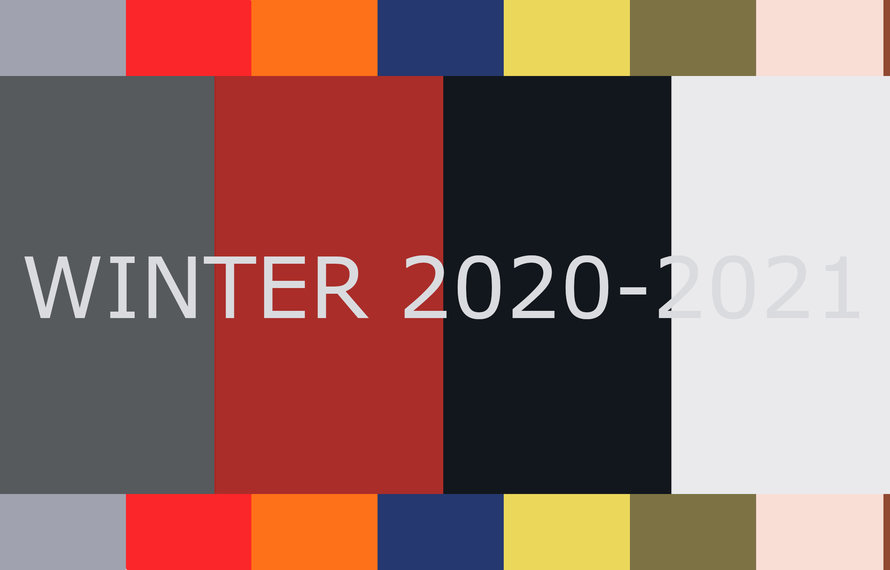 Top 10 fashion colours winter 2020-2021