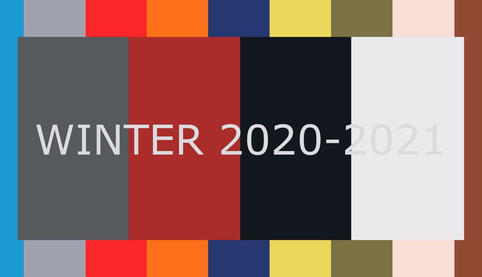 Top 10 fashion colours winter 2020-2021