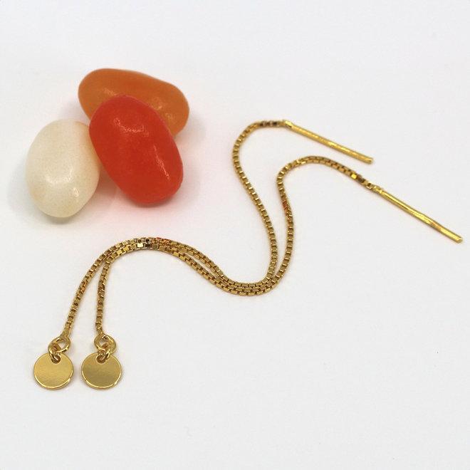 Durchzieher Ohrringe Scheibe - Sterling Silber vergoldet - ARLIZI 1870 - Emma