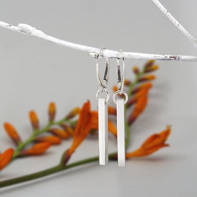 Earrings bar pendant - sterling silver - ARLIZI 1865 - Kendal