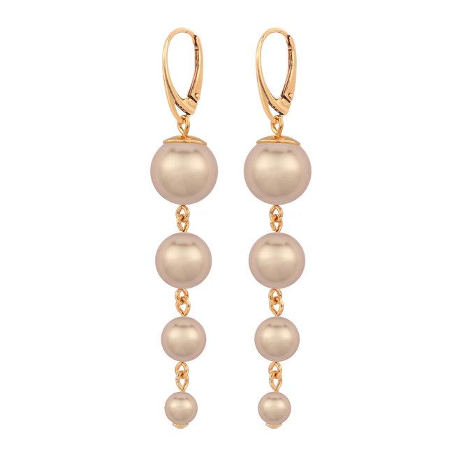 Perle Ohrringe - Silber rosé vergoldet - 1739