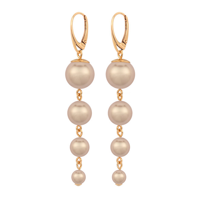Perle Ohrringe - Sterling Silber rosé vergoldet - ARLIZI 1739 - Nora