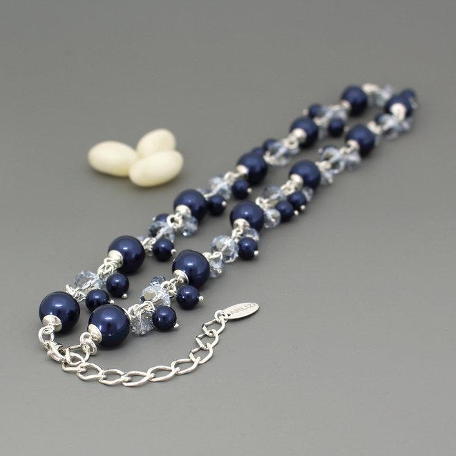 Halskette blau Swarovski Perle Kristall - Sterling Silber - ARLIZI 1347 - Marla