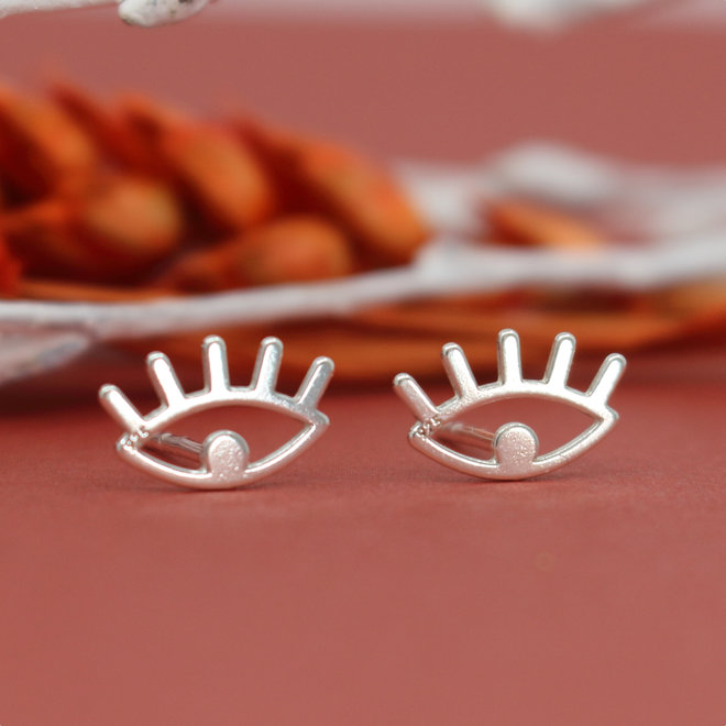 Earrings eyes studs - 925 sterling silver - ARLIZI 1820 - Zoe