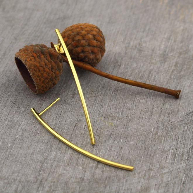 Ohrringe Bar - Sterling Silber vergoldet 5 cm - ARLIZI 1396 - Lily