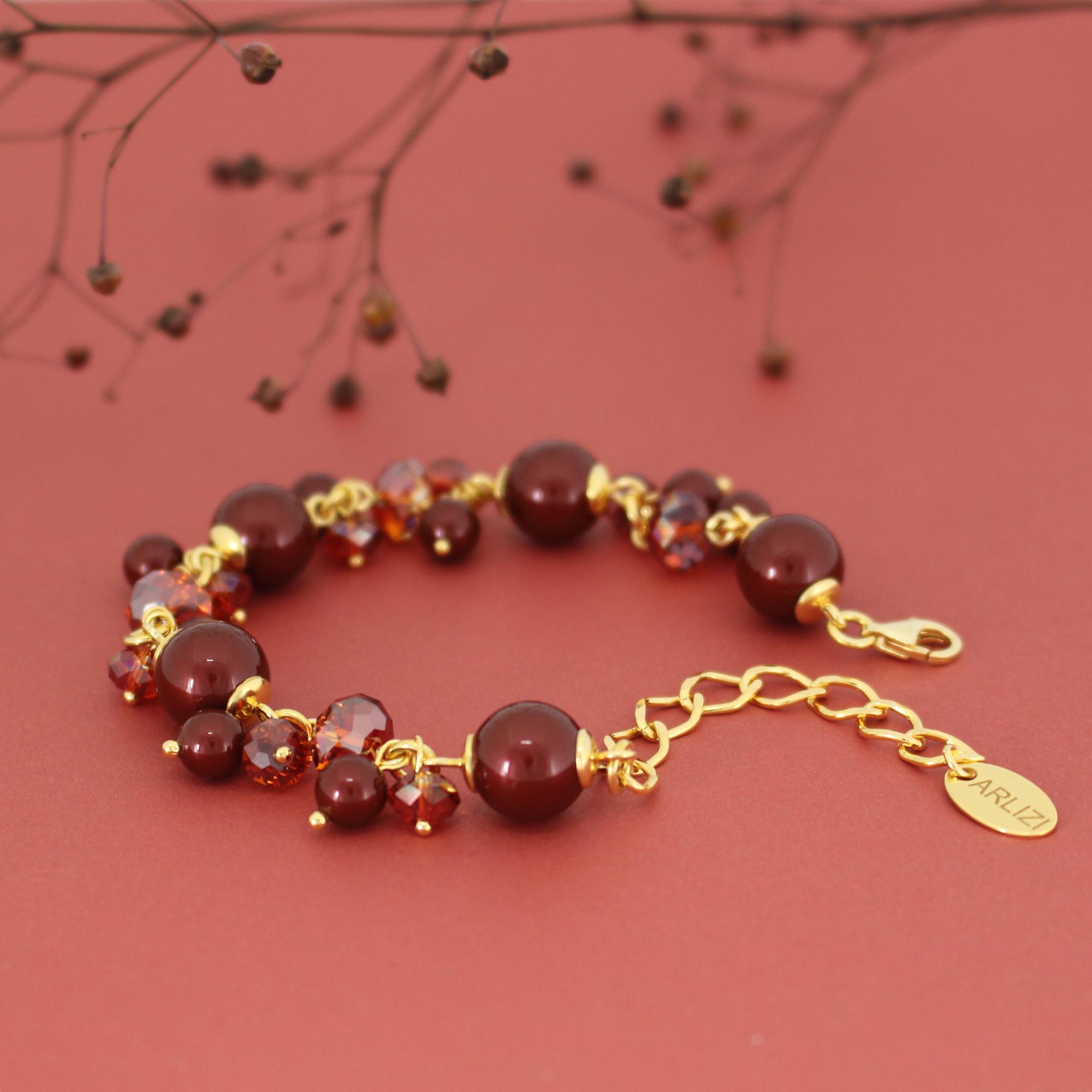 ARLIZI Jewelry red pearl bracelet