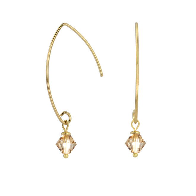 Ohrringe Swarovski Kristall 925 Silber vergoldet - 1911