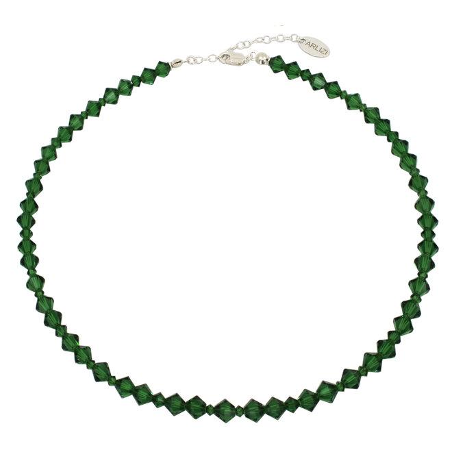 Halskette grün Swarovski Kristall - 925 Silber - 1912
