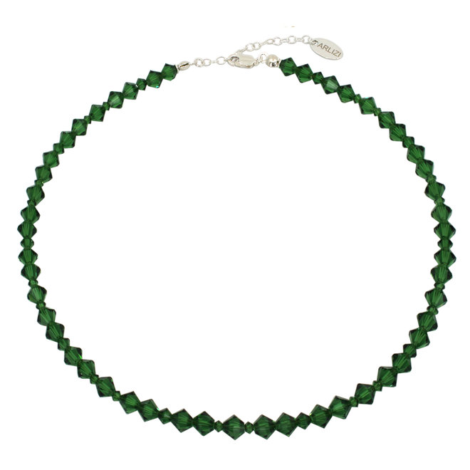 Halskette grün Swarovski Kristall - Sterling Silber - ARLIZI 1912 - Coco