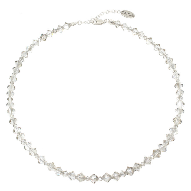 Halskette transparent Swarovski Kristall - 925 Silber - 1906