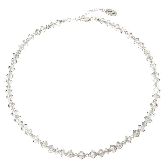 Ketting transparant Swarovski kristal - sterling zilver - ARLIZI 1906 - Coco