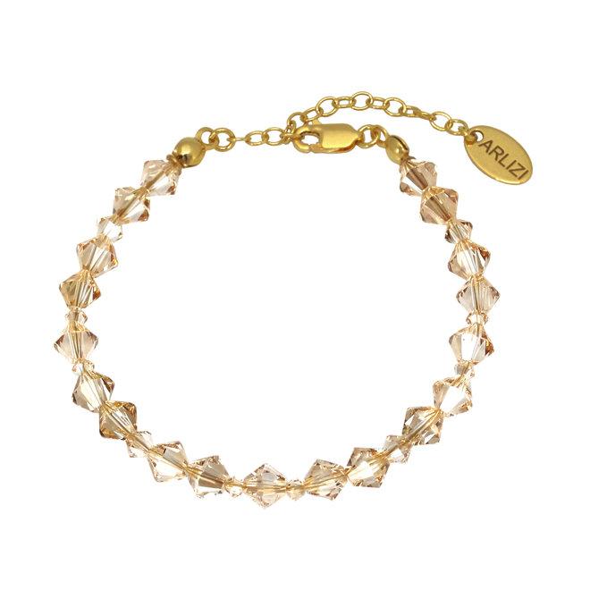 Armband goudkleurig Swarovski kristal - sterling zilver verguld - ARLIZI 1910 - Coco