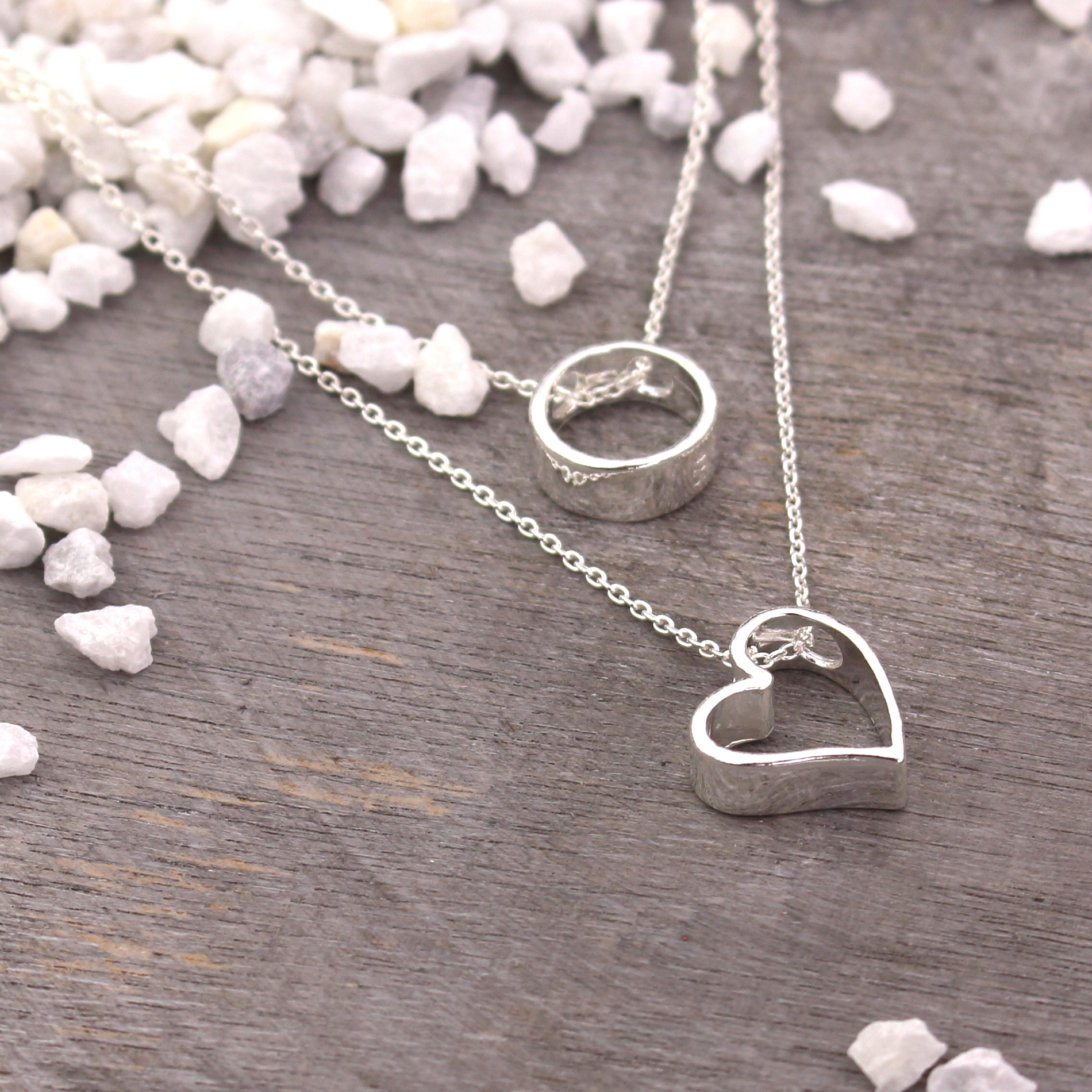 ARLIZI Schmuck Halskette Herz Anhänger Sterling Silber