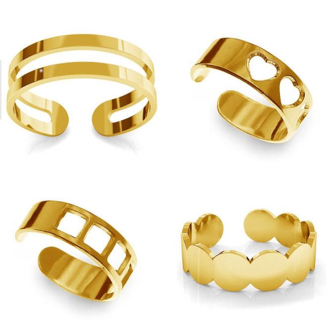 Ringe Set vier Knöchel Ringe - Silber vergoldet - 1388