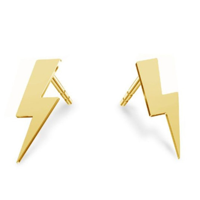 Earrings flash ear climber - sterling silver gold plated - 1922