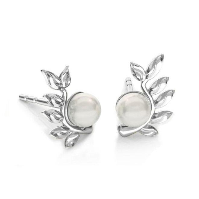 Ohrringe  Blatt Perle - Sterling Silber - 1929