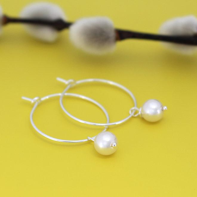 Ohrringe Perle Anhänger - Sterling Silber - ARLIZI 1931 - Natalia