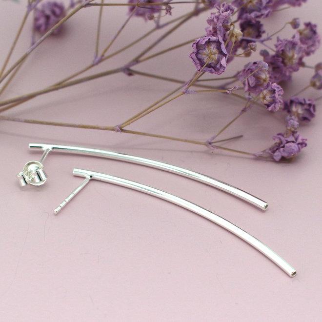 Oorbellen staaf - 925 sterling zilver - ARLIZI 0795 - Lily