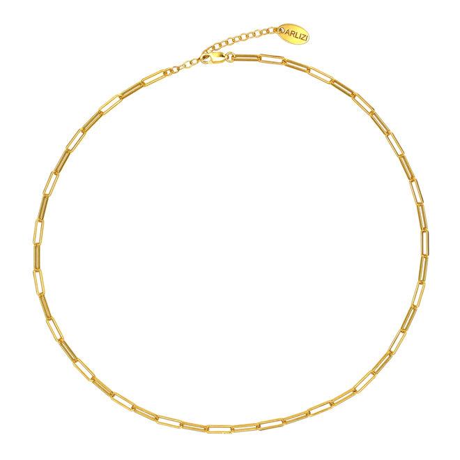 Halskette Gliederkette groß - Sterling Silber vergoldet - ARLIZI 1936 - Carrie