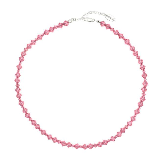 Halskette rosa Swarovski Kristall - Sterling Silber - ARLIZI 1939 - Coco
