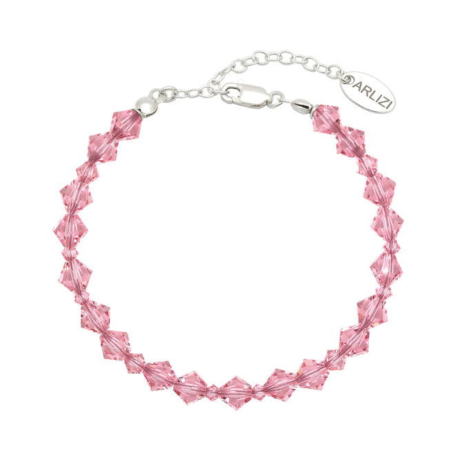 Armband roze Swarovski kristal - sterling zilver - ARLIZI 1940 - Coco