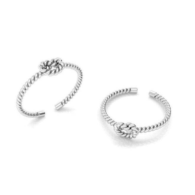 Ring gedraaid touw knoop sterling zilver - ARLIZI 1938 - Mare
