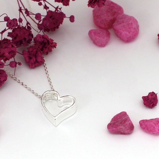 Necklace heart pendant - sterling silver - ARLIZI 1541 - Kendal
