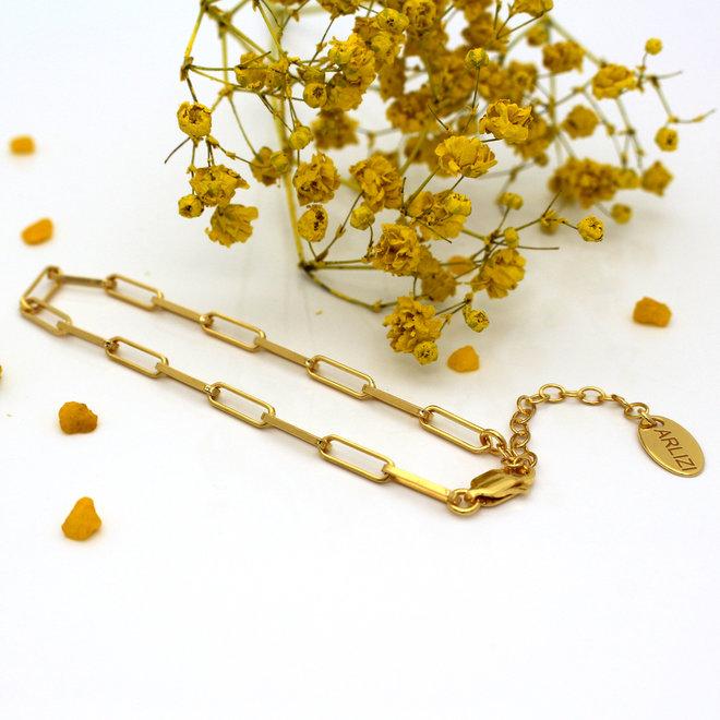 Armband Gliederkette groß - Sterling Silber vergoldet - ARLIZI 1935 - Carrie