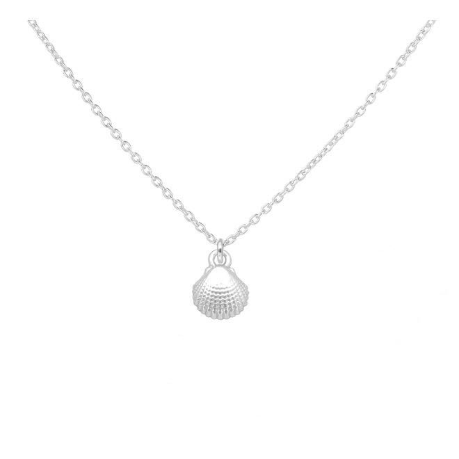 Halskette Muschel Anhänger 925 Silber - 1961