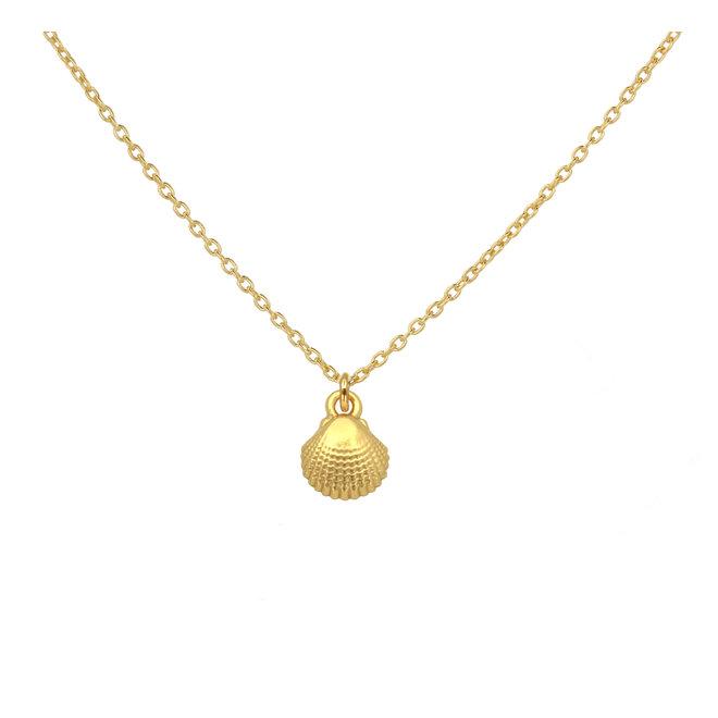 Halskette Muschel Anhänger - 925 Silber vergoldet - 1963