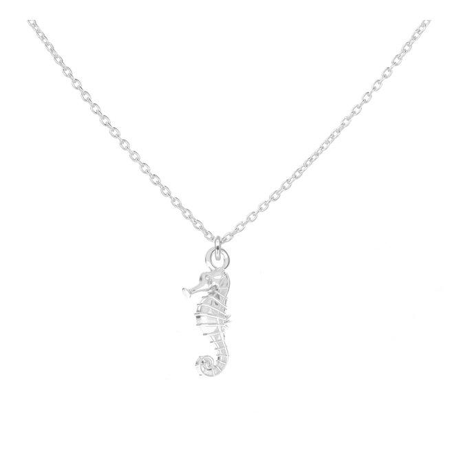 Ketting zeepaardje hanger 925 zilver - 1965