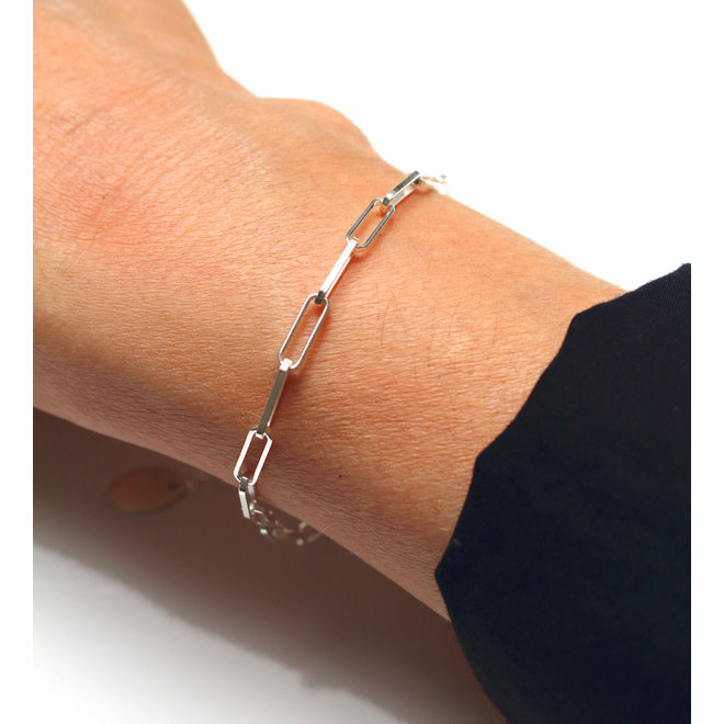 Armband grote schakel - sterling zilver - ARLIZI 1933 - Carrie