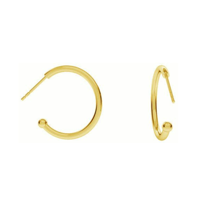 Ohrringe  mit Kugel- Sterling Silber vergoldet - 1969