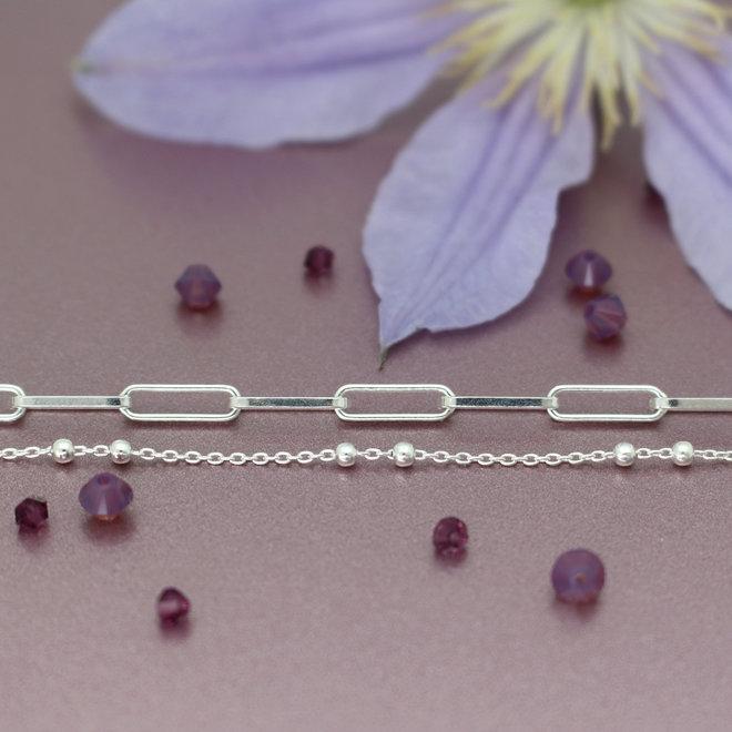 Halskette Gliederkette Kugeln - Sterling Silber - ARLIZI 1976 - Eline