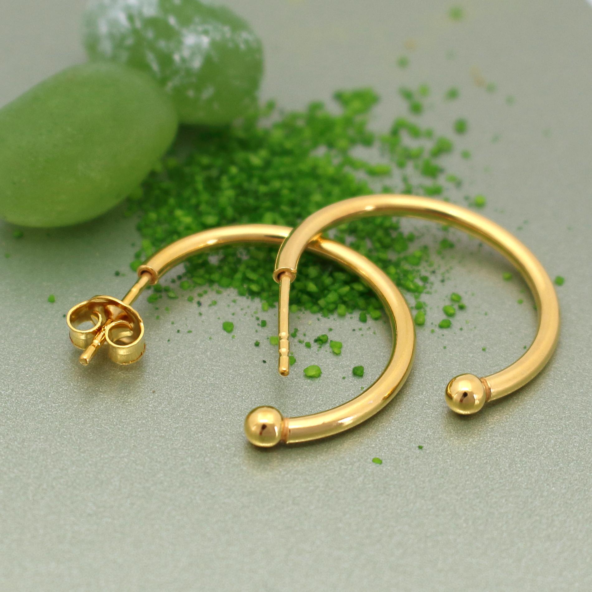 Ohrringe Creolen Sterling Silber vergoldet