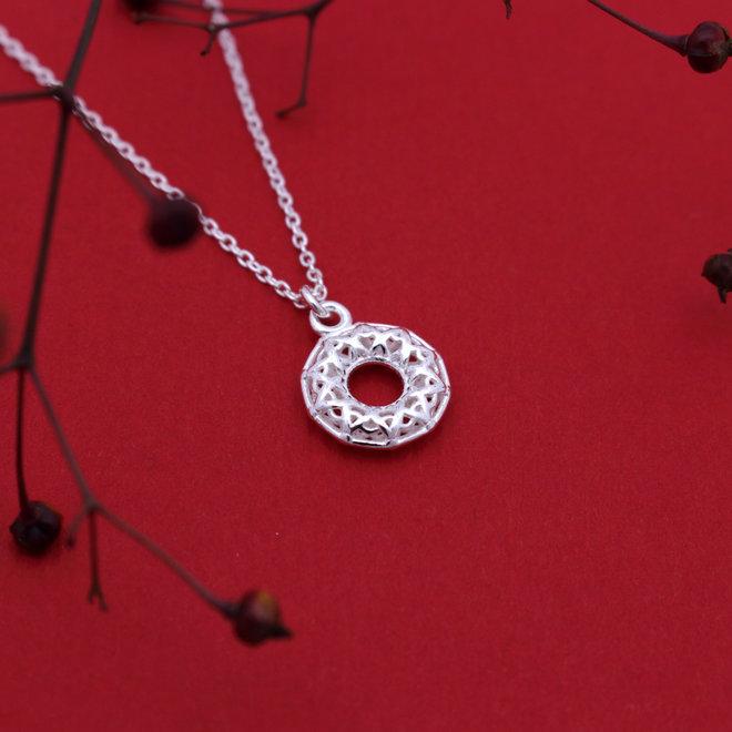 Ketting Keltische hanger - sterling zilver - ARLIZI 1990 - Ivy