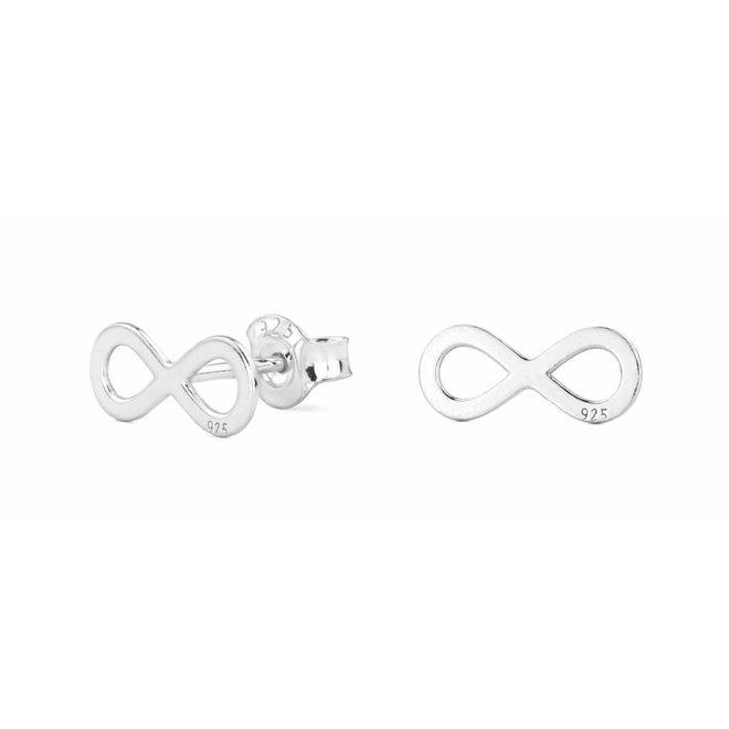 Oorbellen infinity oorstekers - sterling zilver - 0861