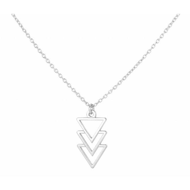 Halskette Dreieck Anhänger Sterling Silber - 0865