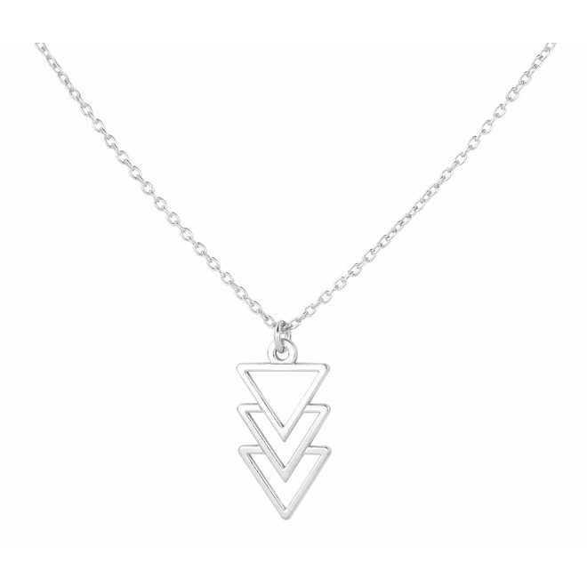 Necklace inverted triangle pendant - sterling silver - ARLIZI 0865 - Kendal