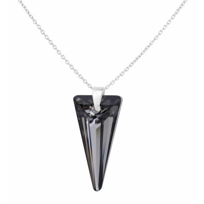 Halskette Kristall Spike - Sterling Silber - 0898