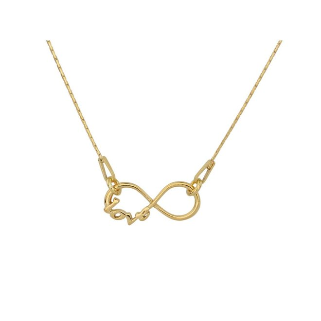 Necklace infinity pendant - gold plated sterling silver - ARLIZI 0909 - Kendal