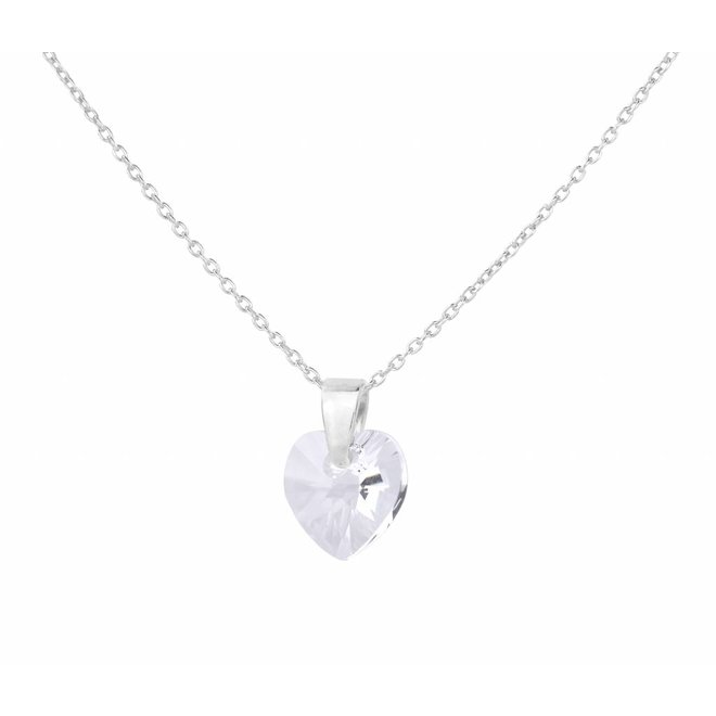 Halskette Swarovski Kristall Herz - Silber - 0915