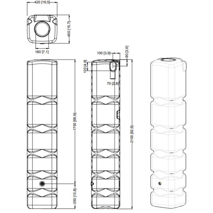 Basis 300 liter Beige-3