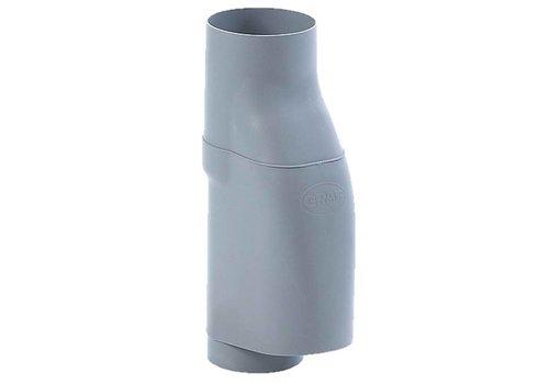 Bladscheider PVC grijs 70-90mm