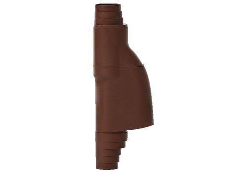 Bladscheider PVC bruin 70-90mm