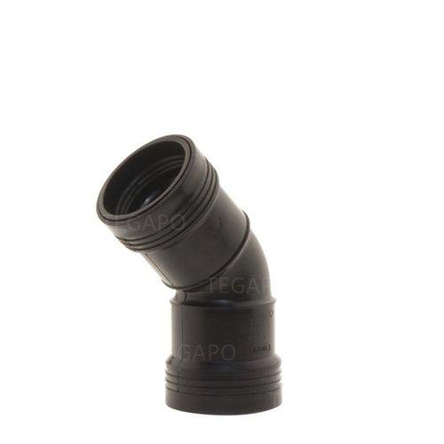 PP bocht 45 graden 40mm m-m