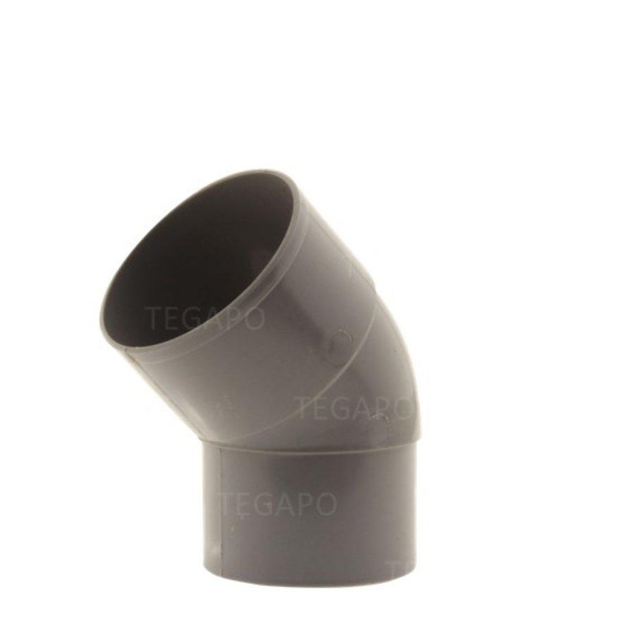 PVC bocht 45 graden 70mm m-vjs-1