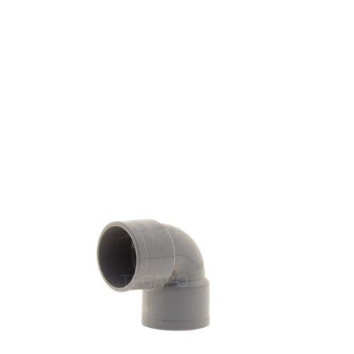 PVC bocht 90 graden 32mm m-m