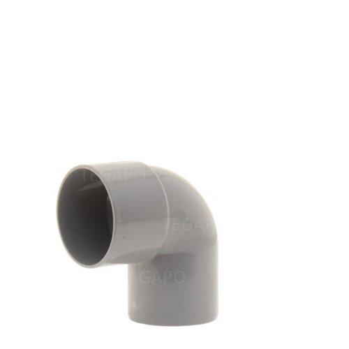 PVC bocht 90 graden 50mm m-s