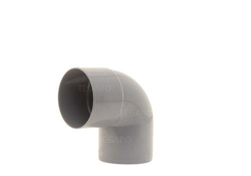 PVC bocht 90 graden 60mm m-s